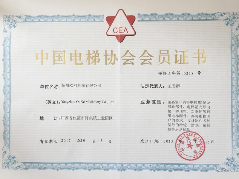 亚搏下载官网协会证书